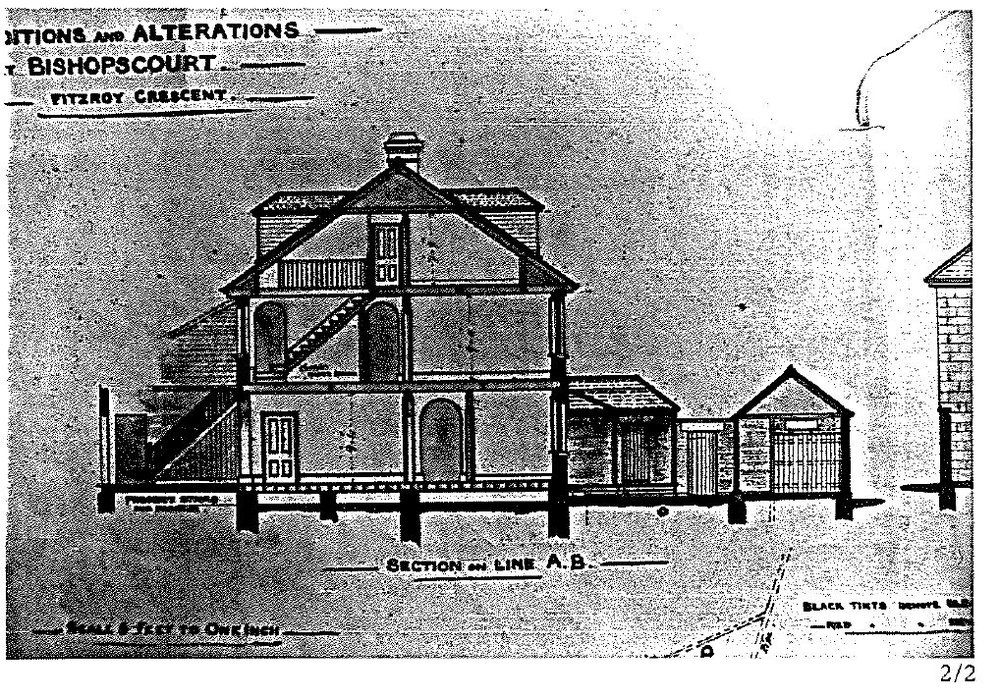 Side elevation as designed by Henry Hunter