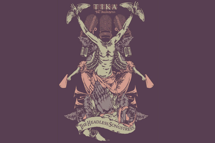 Design for T-shirt : Tika & The Dissidents, 2012