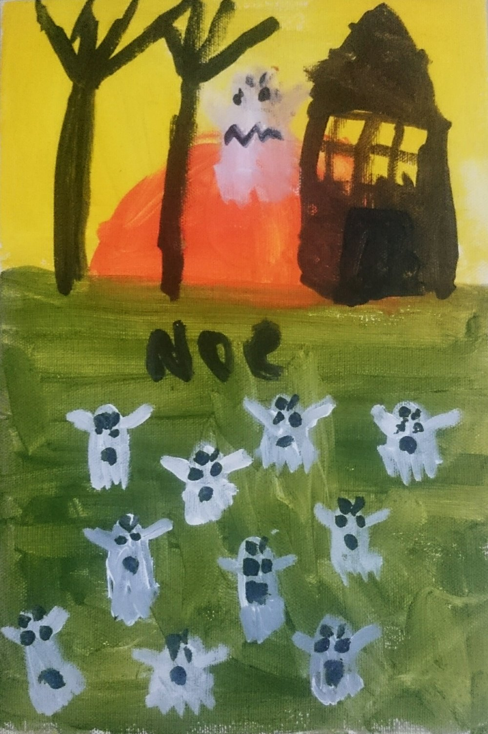 Judul : Hantu Siang Bolong Artis : Noe, Kelas 2 SD Medium : Acryllic di kanvas