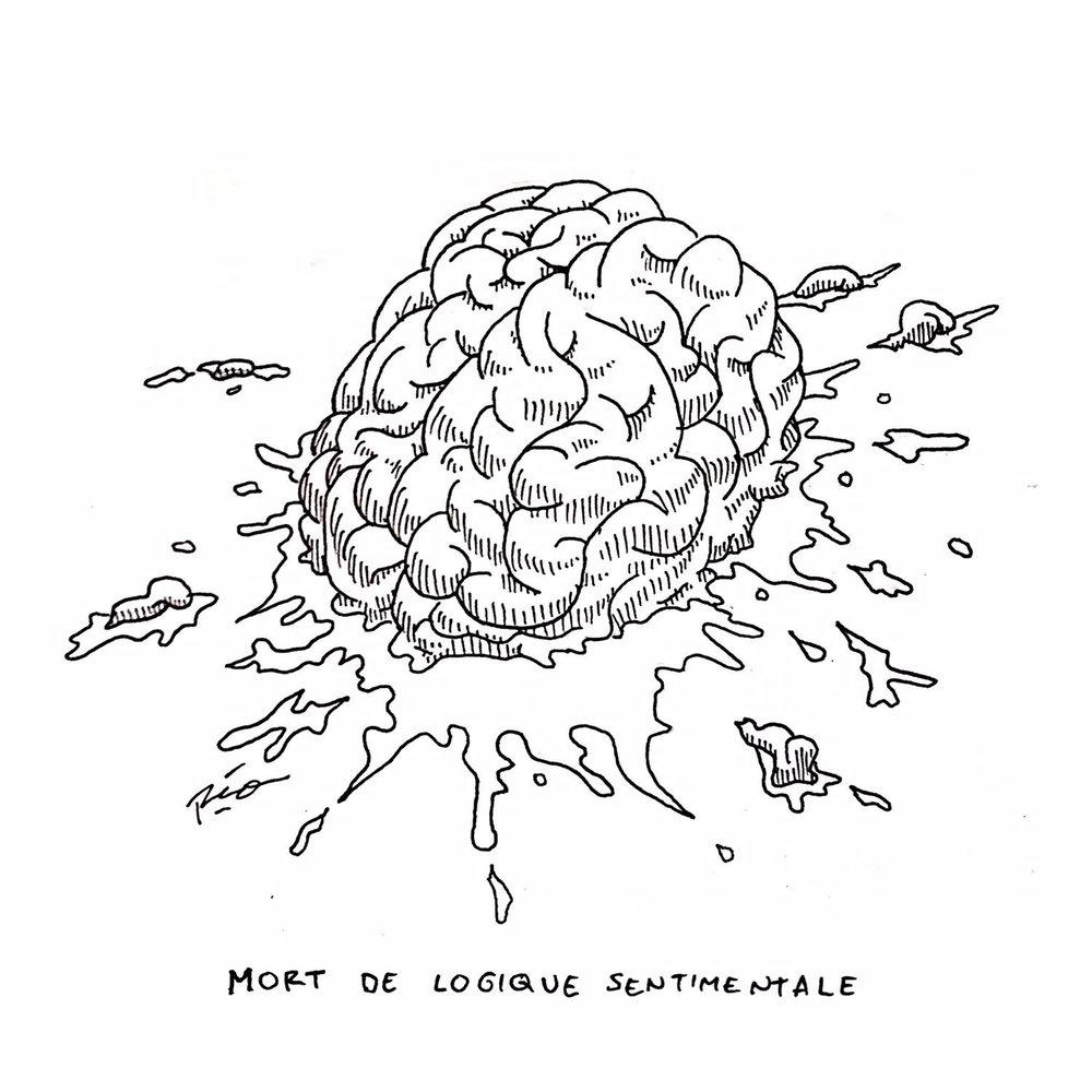 """Judul : """"Death of Sentimental Logic"""" Artis : Mario Noya Medium : Pen on Paper"""