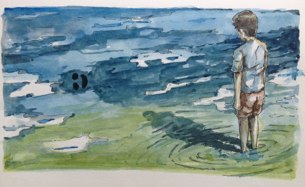 "Judul : ""Mimpi"" Artis : Yunazzil Muhlish Medium : watercolour on paper"