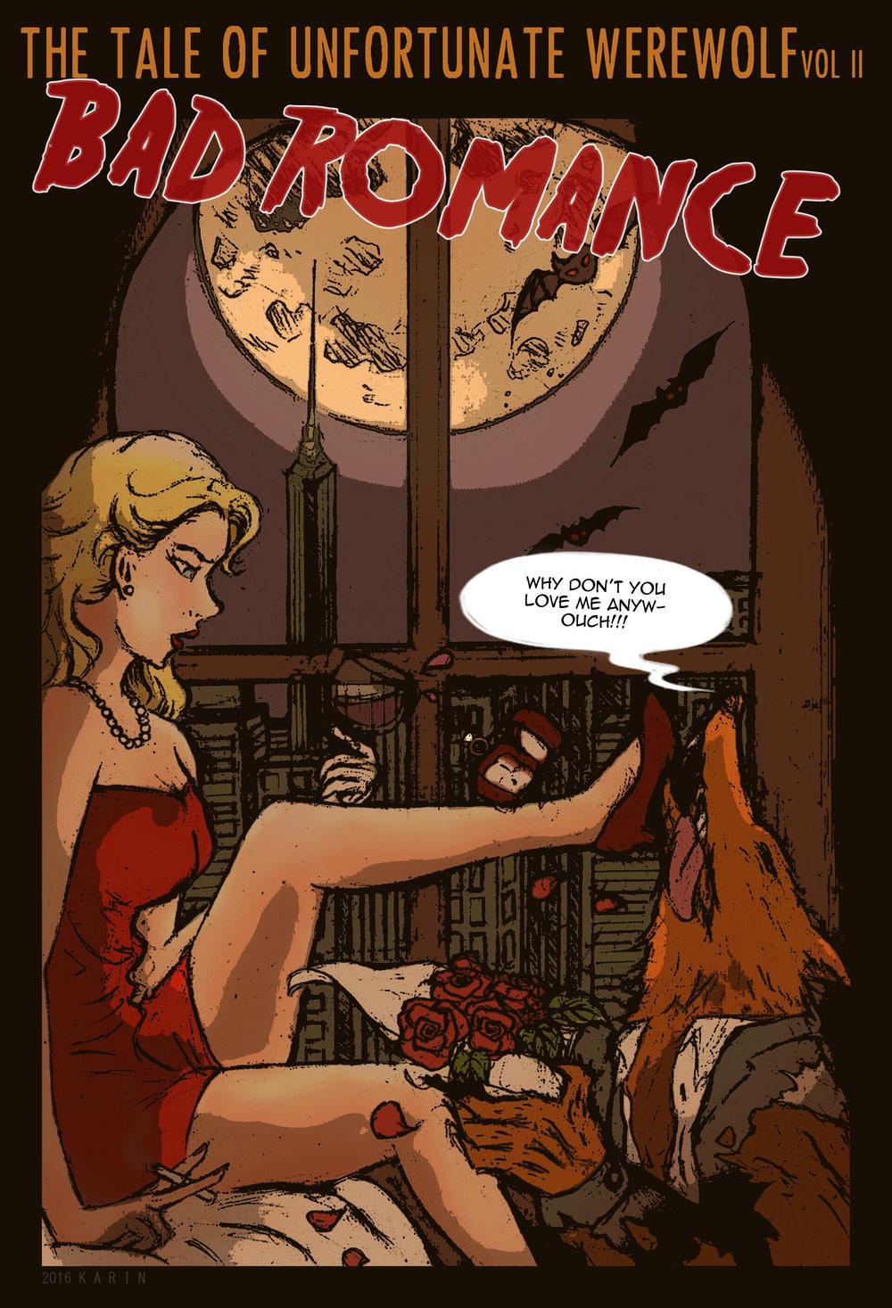 "Judul : ""The Tale of ufortunate Wolf: Bad Romance"" Artis :Karin Talitha Medium :Pencil on paper, digital coloring."