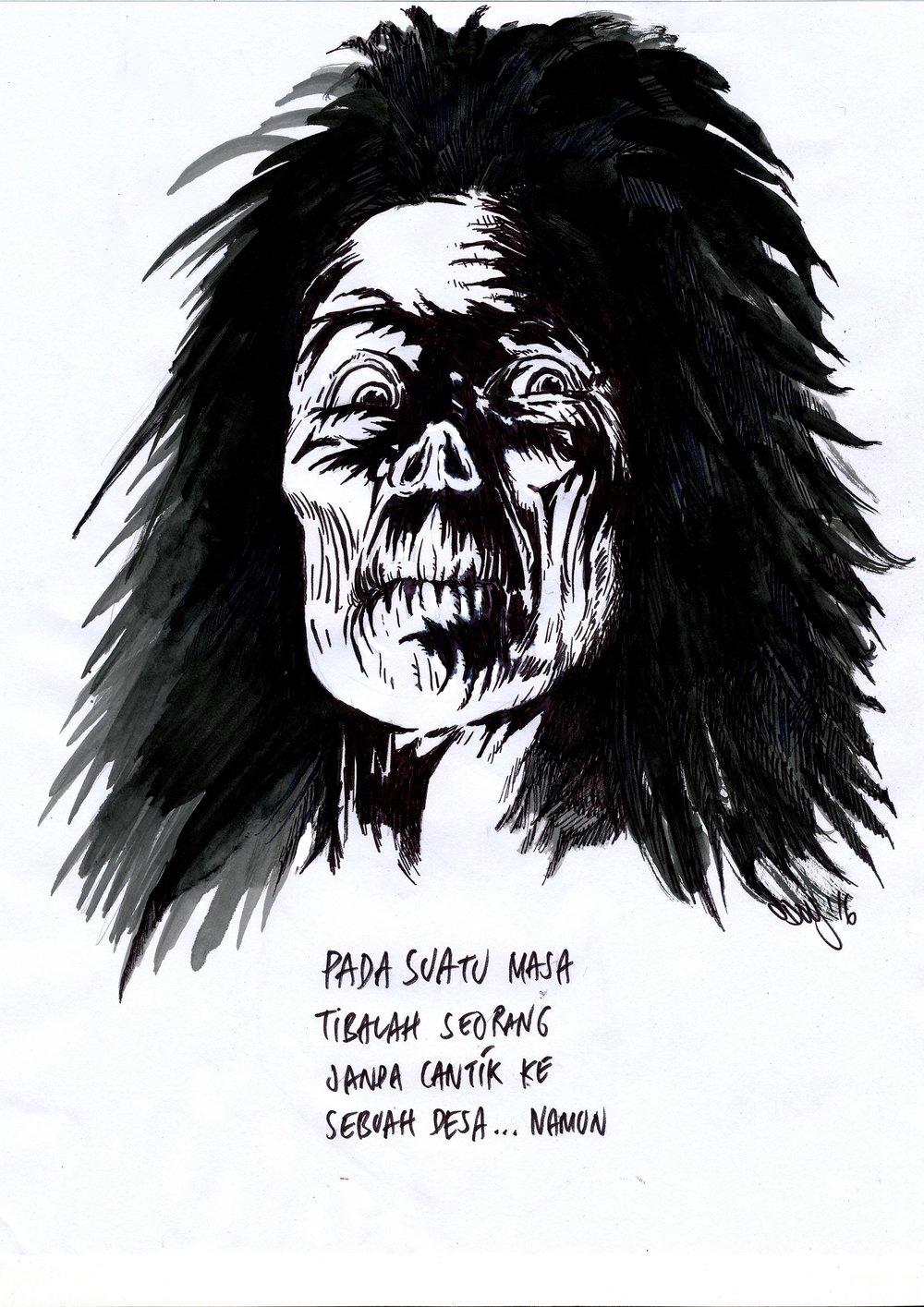 """Judul : """"Pada Suatu Masa"""" Artis : Dodi Hilman Medium :Tinta di kertas"""