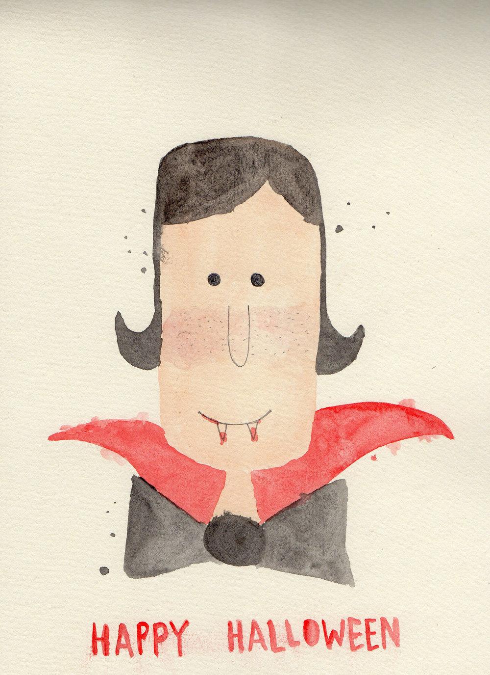 "Judul :""Baby Dracula"" Artis : Faqia FM Medium : Watercolor on paper"