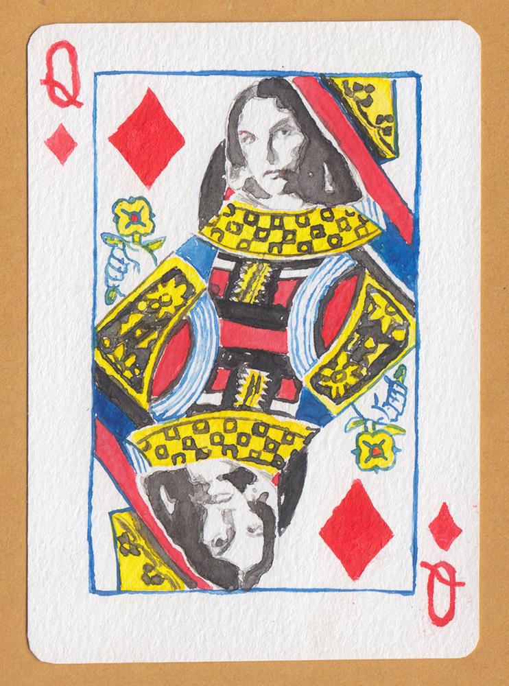 """Judul :""""The Queen of Audrey Horne"""" Artis :frnss feransis Medium :Cat air di kertas"""