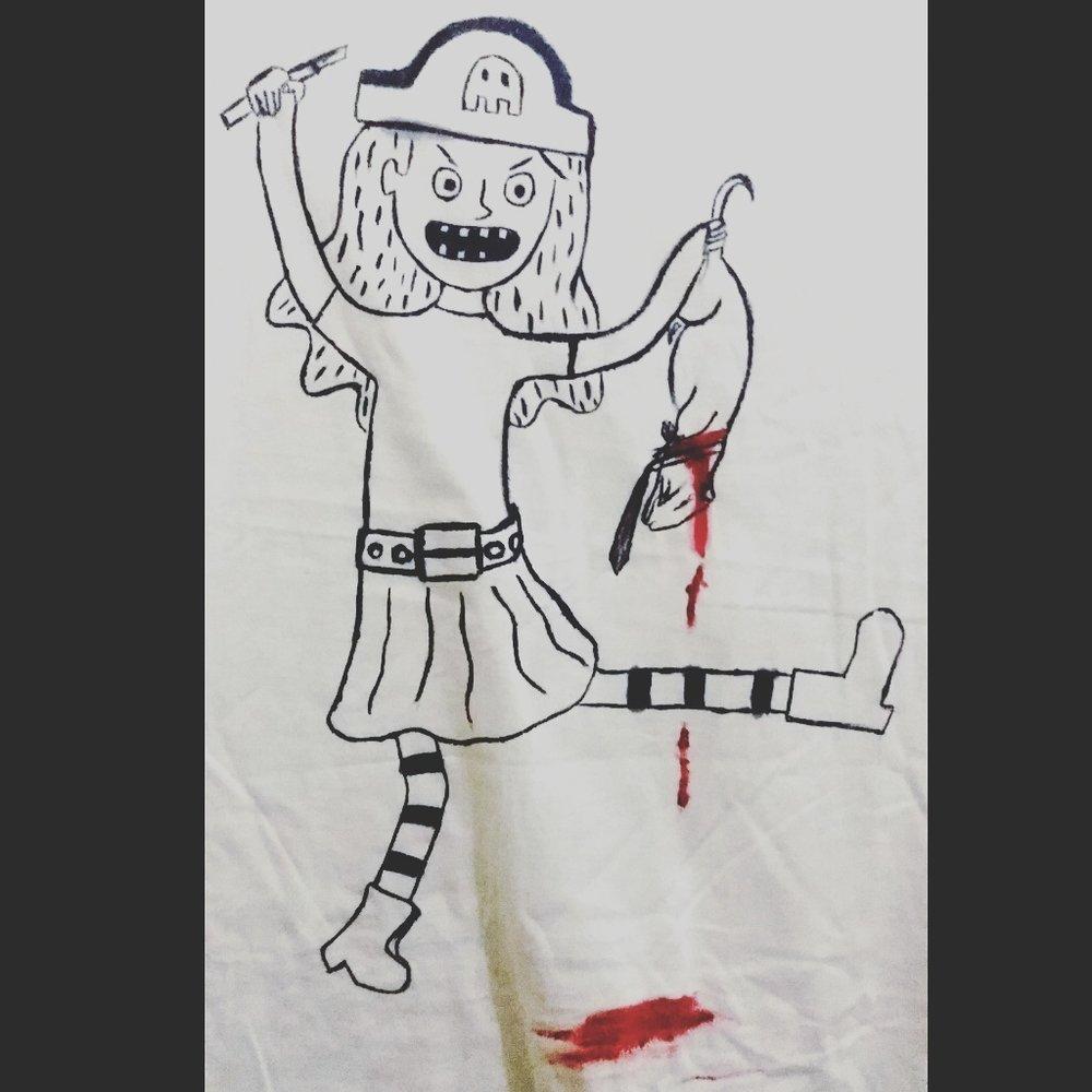 """Judul :""""Sadis Menyadiskan"""" Artis : Cahayaa Priska Medium :Acryllic diatas kaos"""