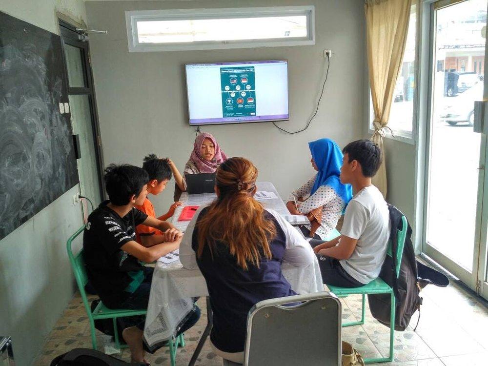Kegiatan SMC di Studio Cerita Serbarupa.