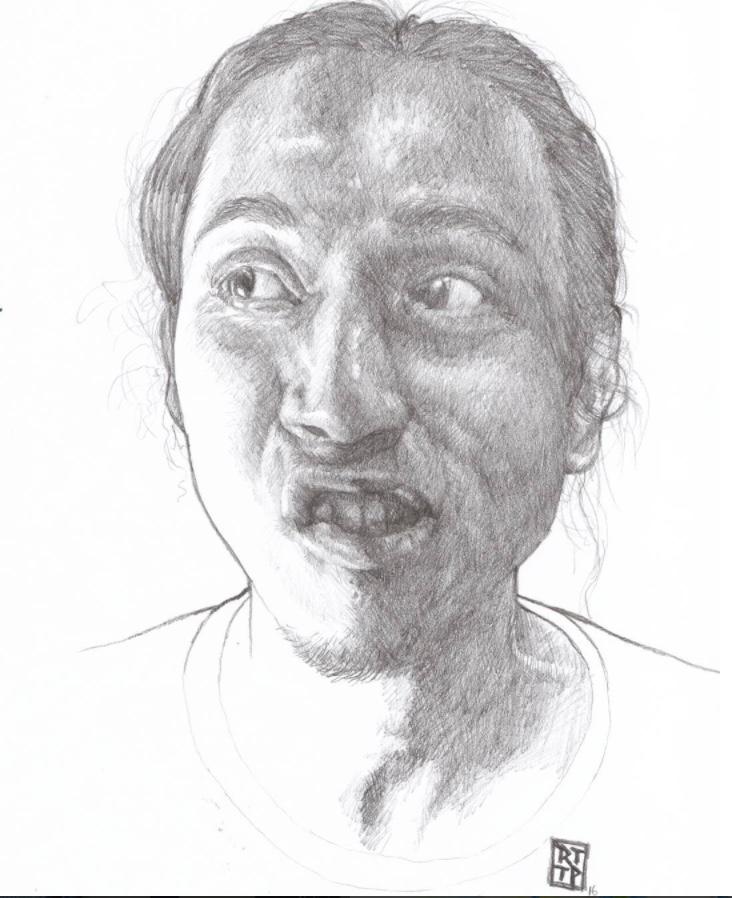 Ejjam Rttp Self Portrait Drawing of himself.