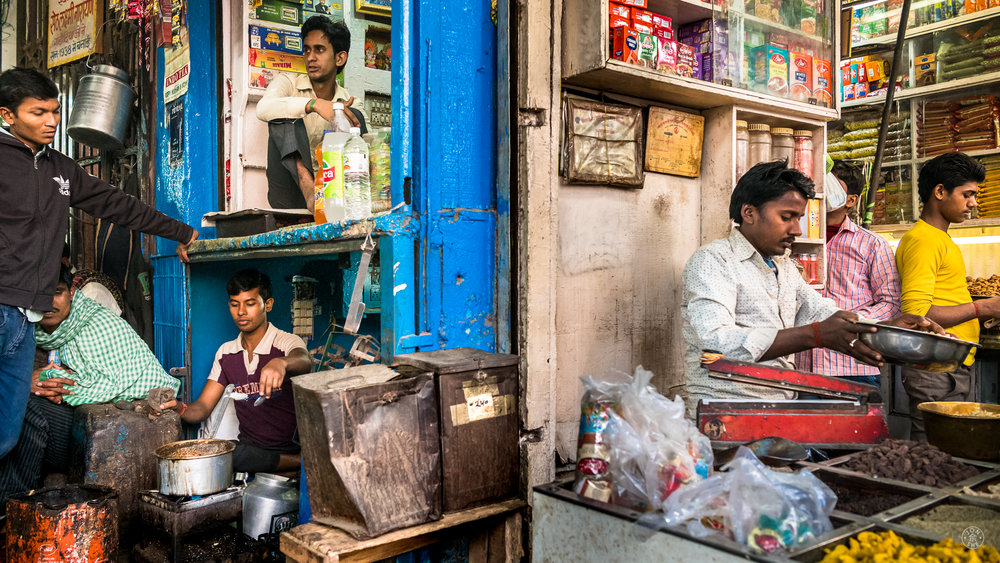 """Double Level Shop"" . Old Delhi, India. January 2017. © Jon She. Leica M10, Leica Summilux 28mm f/1.4 ASPH."