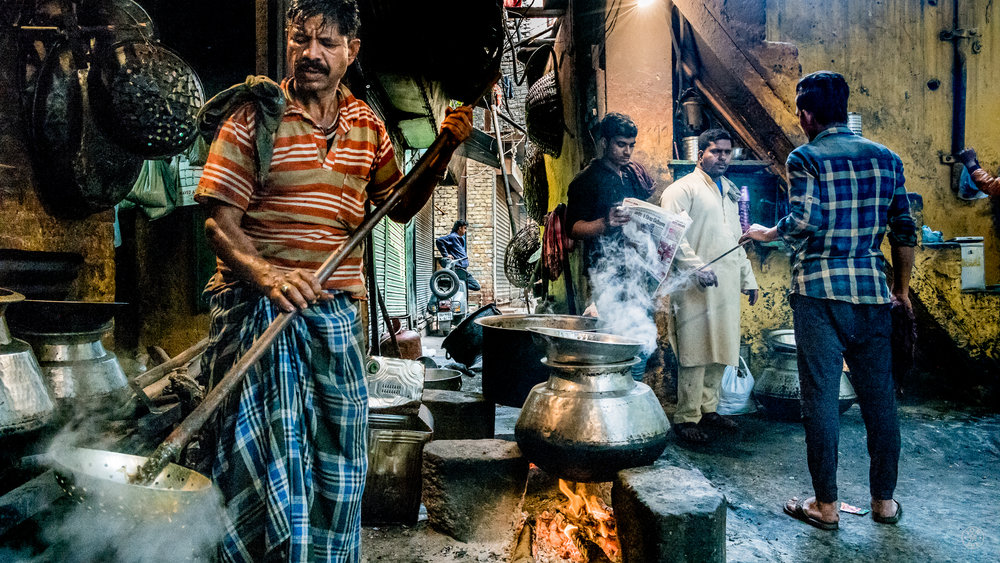 """Alley Chefs"".  New Delhi, India. January 2017. © Jon She. Leica M10, Leica Summilux 28mm f/1.4 ASPH."