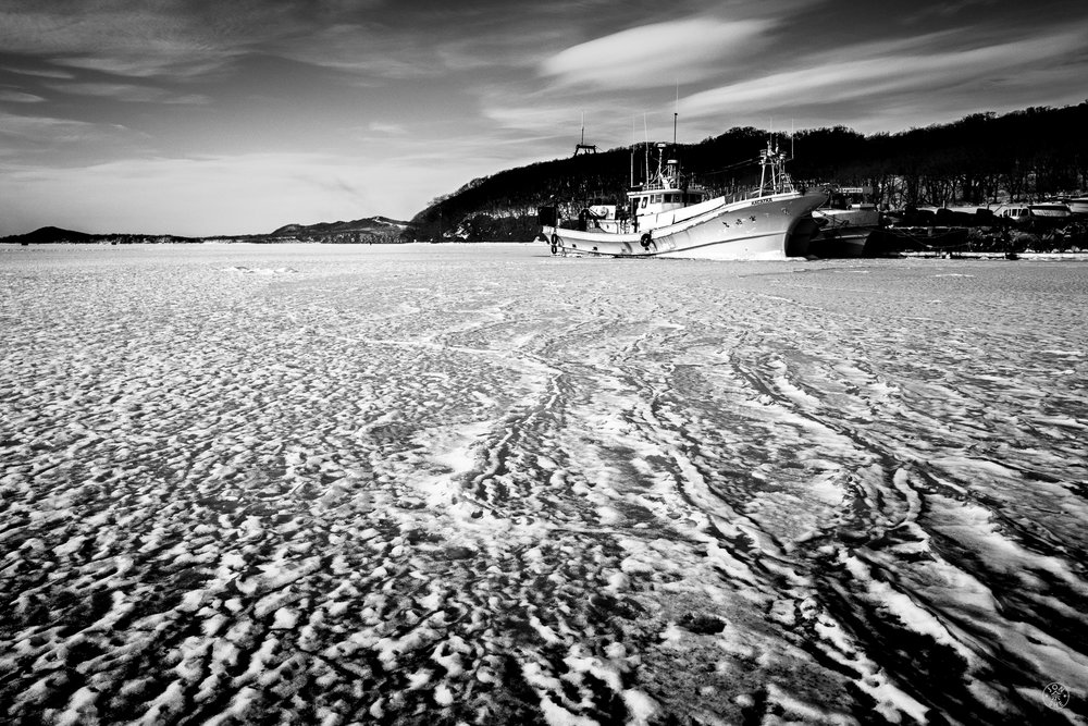 """Icy Ship"".   Vladivostok, Primorsky Krai, Far East Russia. January 2017. © Jon She. Leica Q (Typ 116), Leica Summilux 28mm f/1.7 ASPH (FLE)."