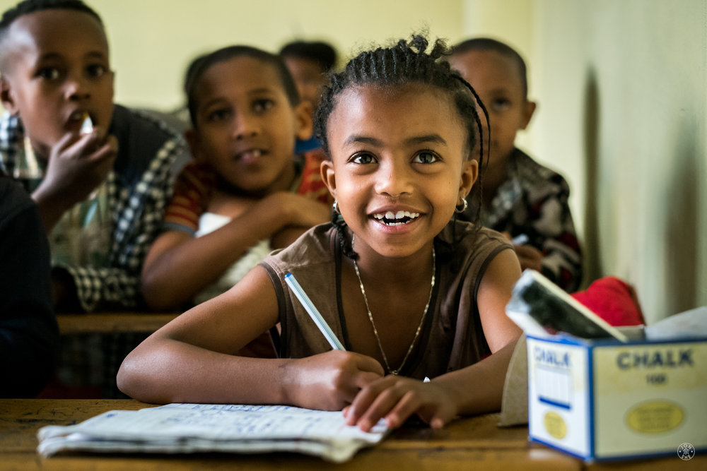 A Strong Education.  The Strong Hearts Foundation primary school, where children from the adjacent Koshe slums receive education from passionate teachers. Addis Ababa, Ethiopia. © Jon She 2017.