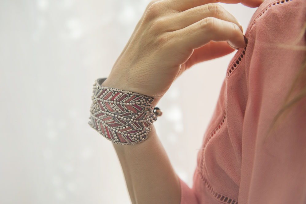 bracelet nahua rouge rose thefavorite fr 1