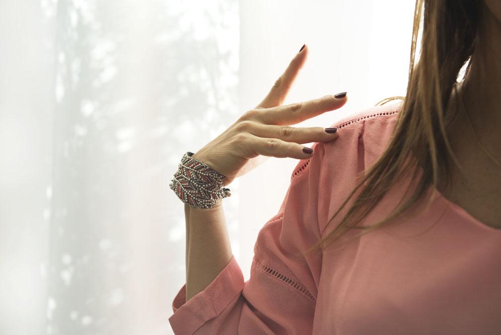 bracelet nahua rouge rose thefavorite fr 2