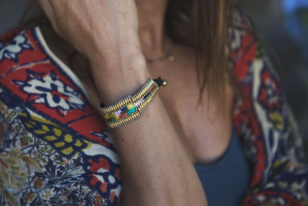 2 bracelet gold nahua 3