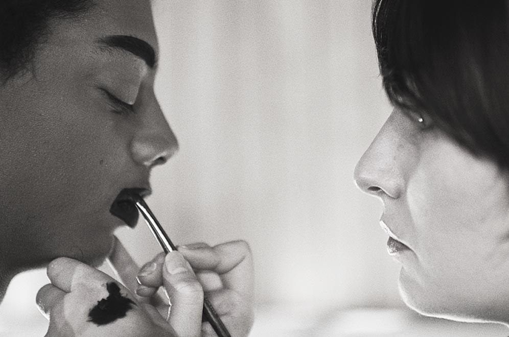 maquilleur professionnel lèvres