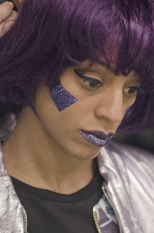 maquillage violet femme