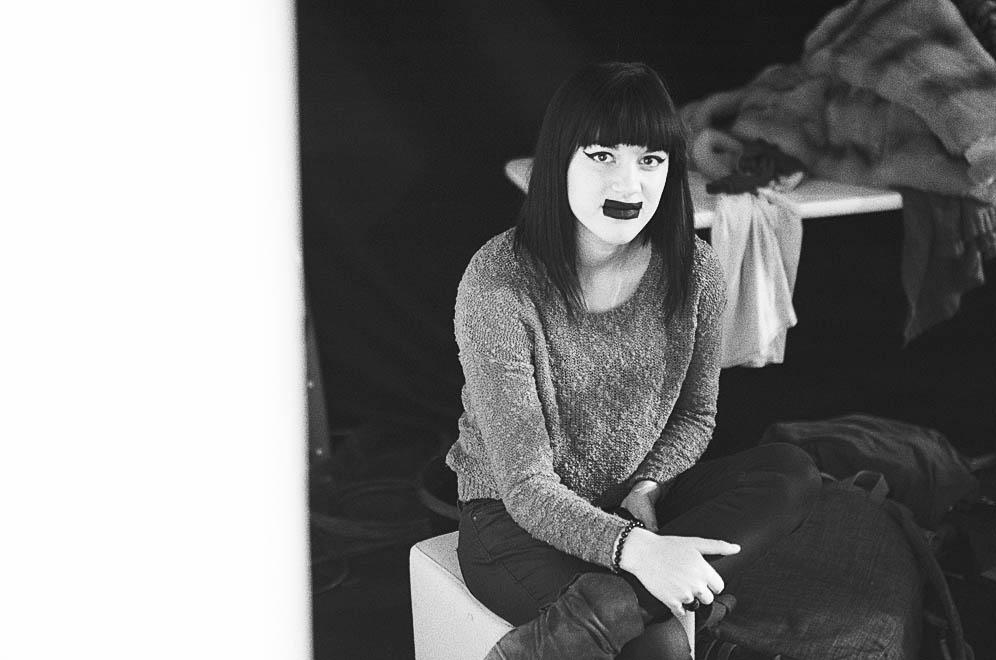 maquillage bouche femme défilé mode