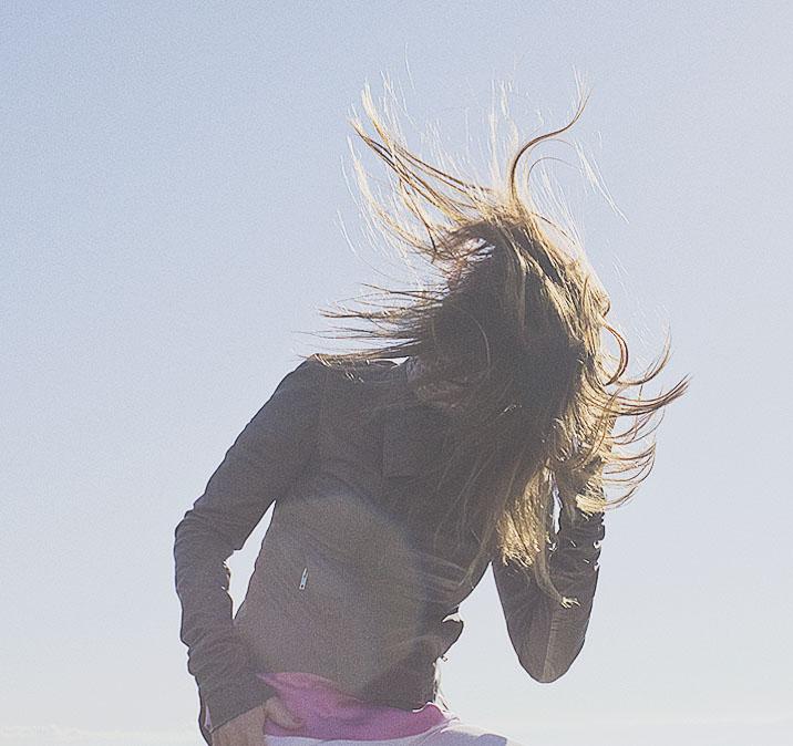 cheveux au vent séance photo