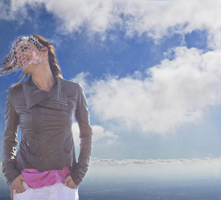 voilette papillons et nuage