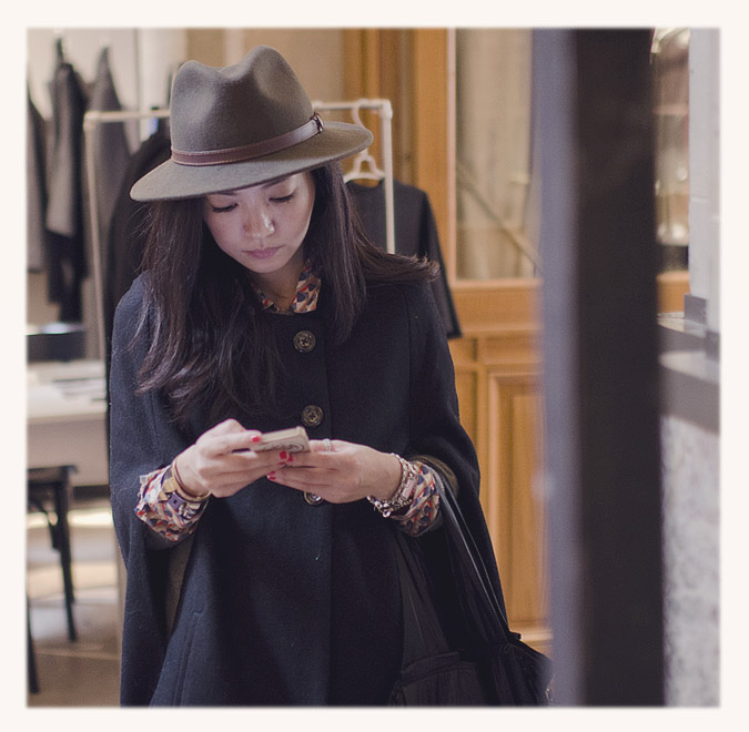 chapeau marron femme
