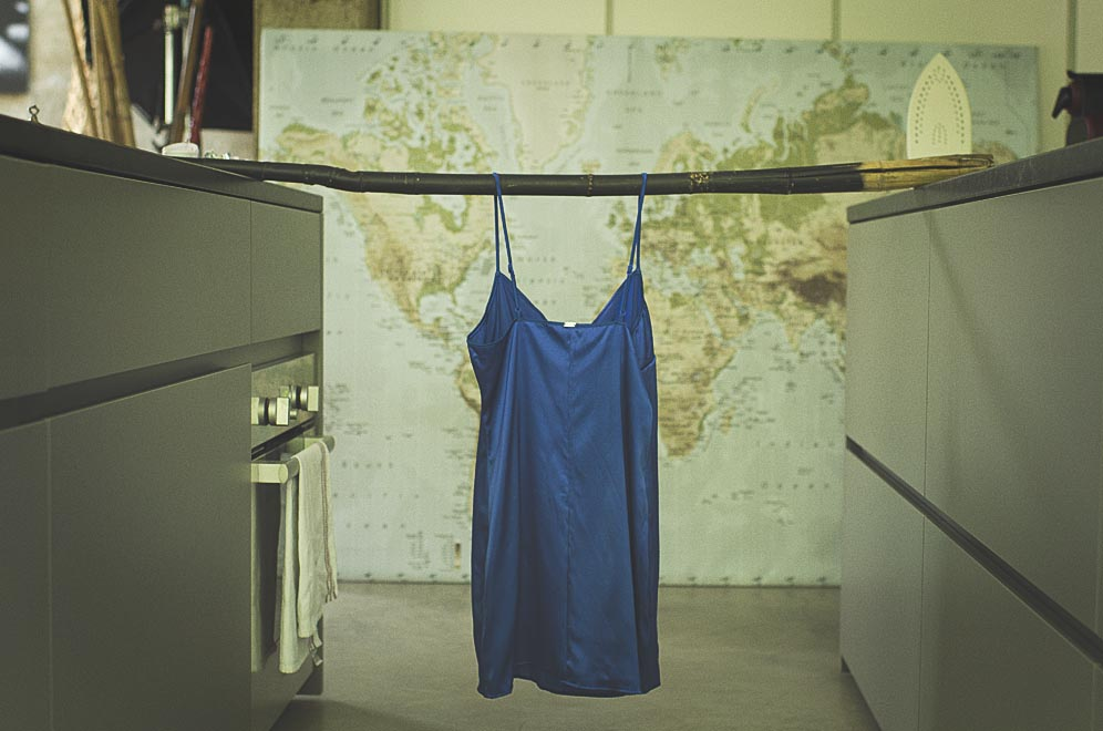 nuisette bleue rosy lingerie