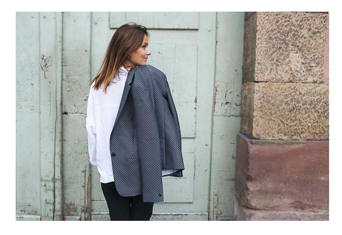 chemise blanche blazer