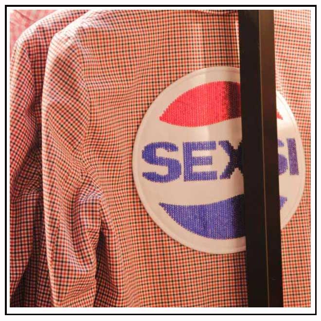 Veste tartan avec message sexsi