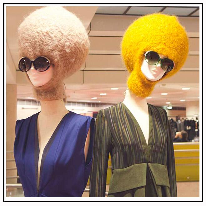 Cagoules et lunettes de soleil