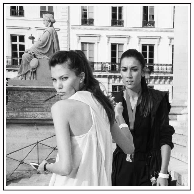 Photo noir et blanc looks femmes