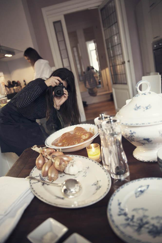 table dressée repas