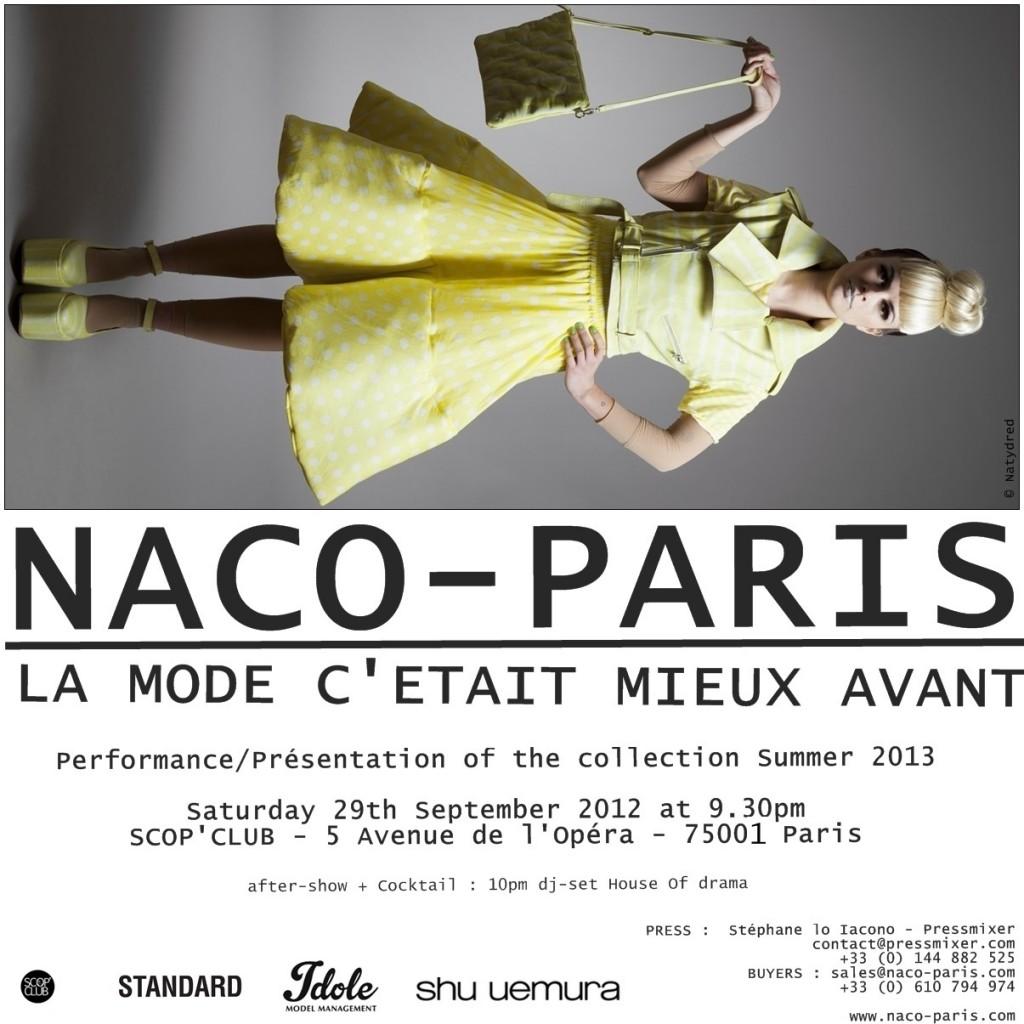 affiche événement naco paris
