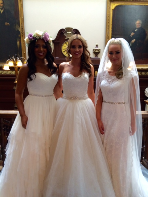 Our beautiful models in the Janey dress (left), Katie dress (centre) and Thea dress (right).