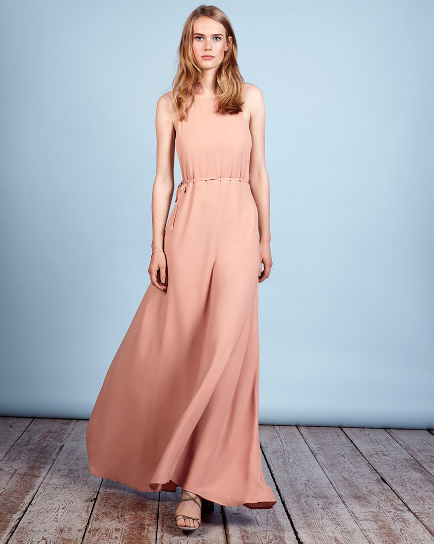 Vienna Dress in Peachy