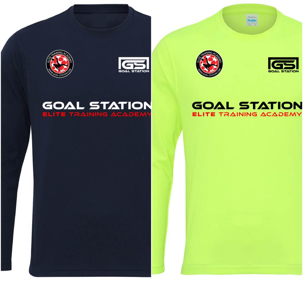 2 x  Official GOAL STATION ELITE langærmet t-shirt