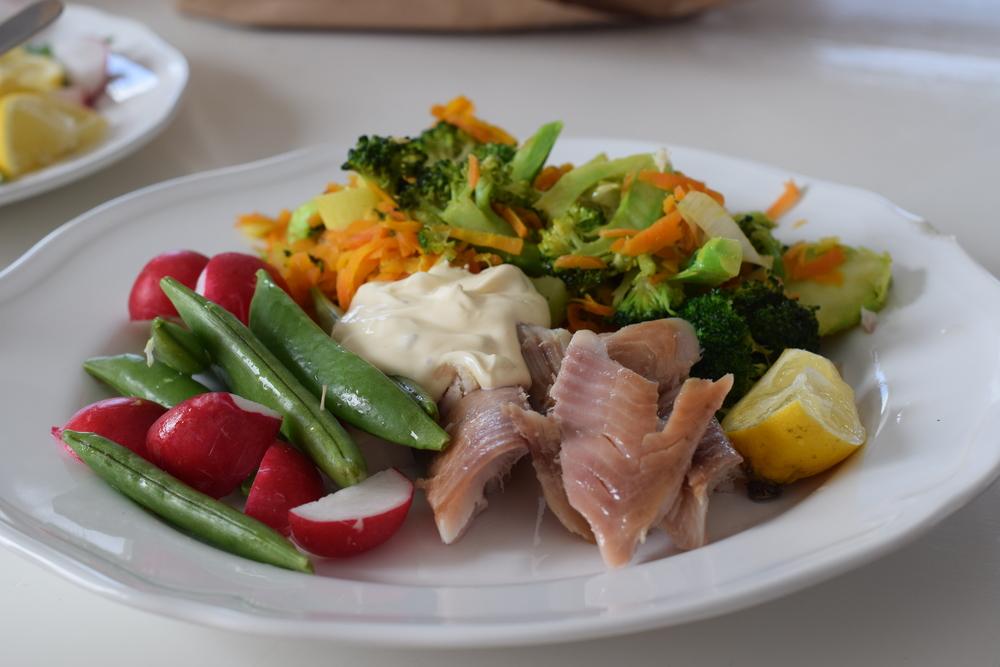 Spring food: Smoked Mackerel salad