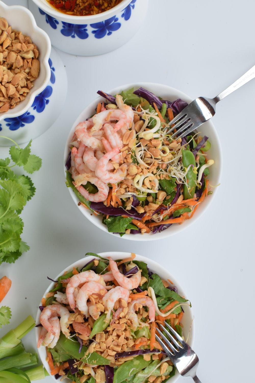 Thai-sallad med räkor