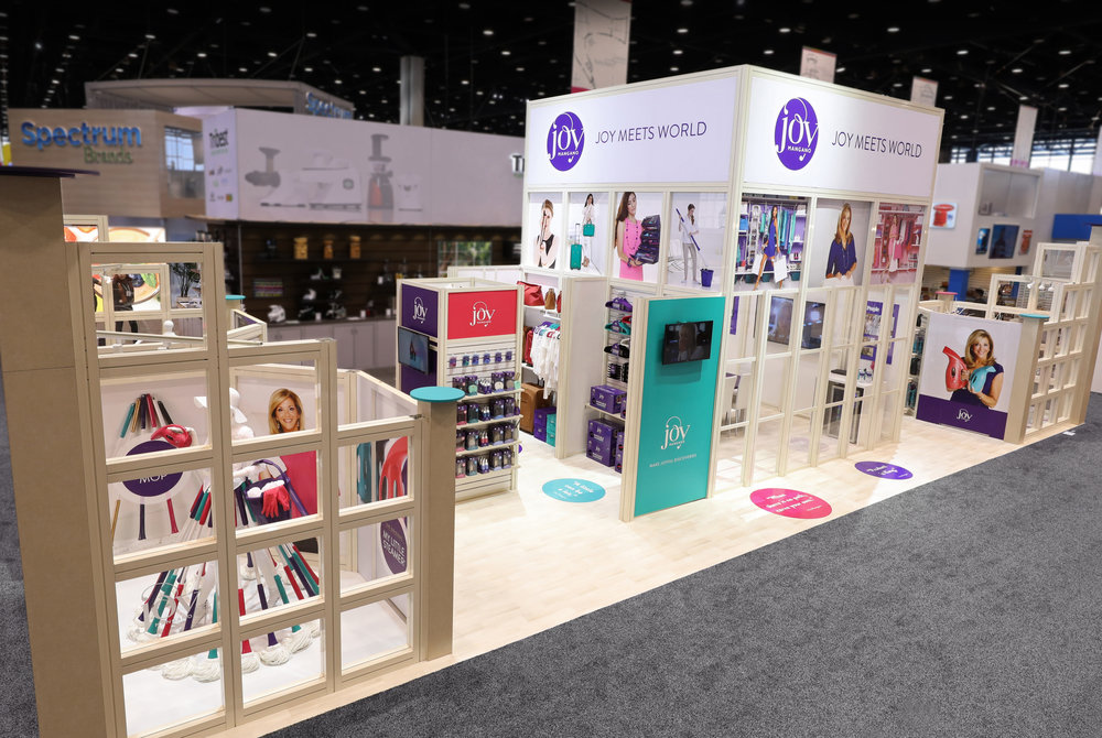 Joy's booth at the International Home and Housewares Show.