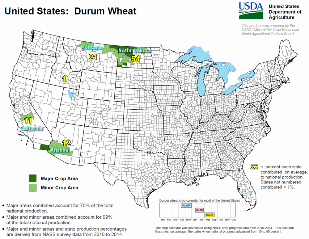 World Crops Maps  Calendar  COFU Trading - Us wheat production map