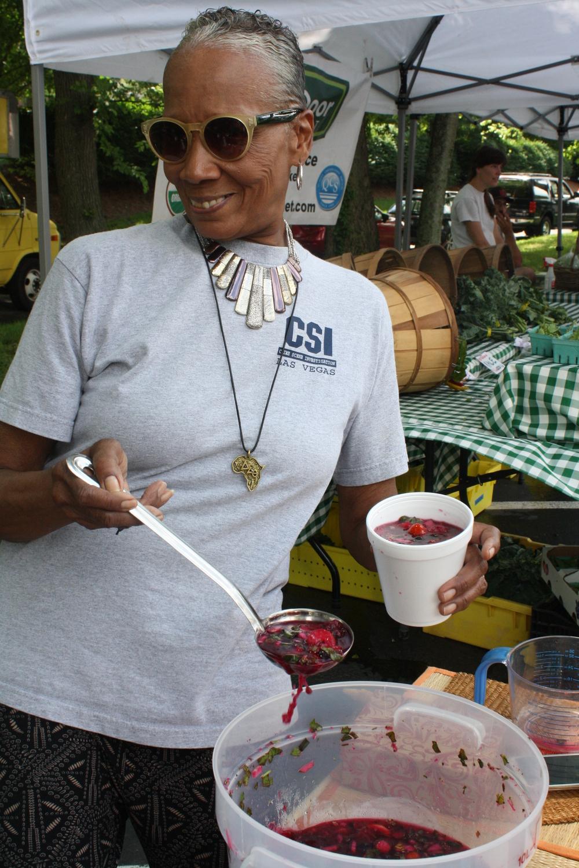 Richland Park Farmers Market soup lady