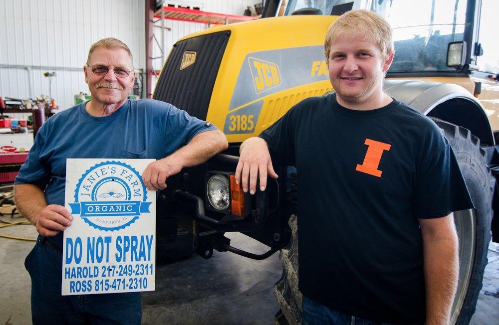 Harold and Ross Wilken farm 2,400 acres of Certified Organic grains.