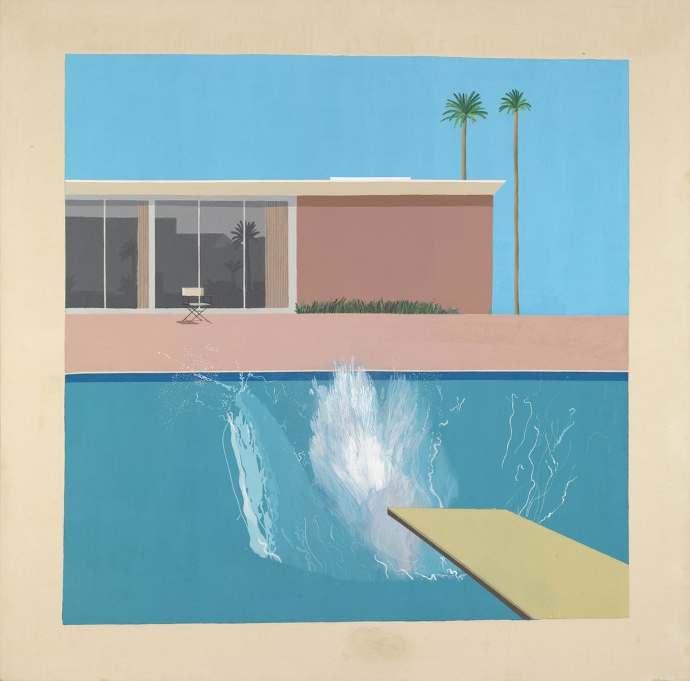 A Bigger Splash 1967. Acrylic paint on canvas.