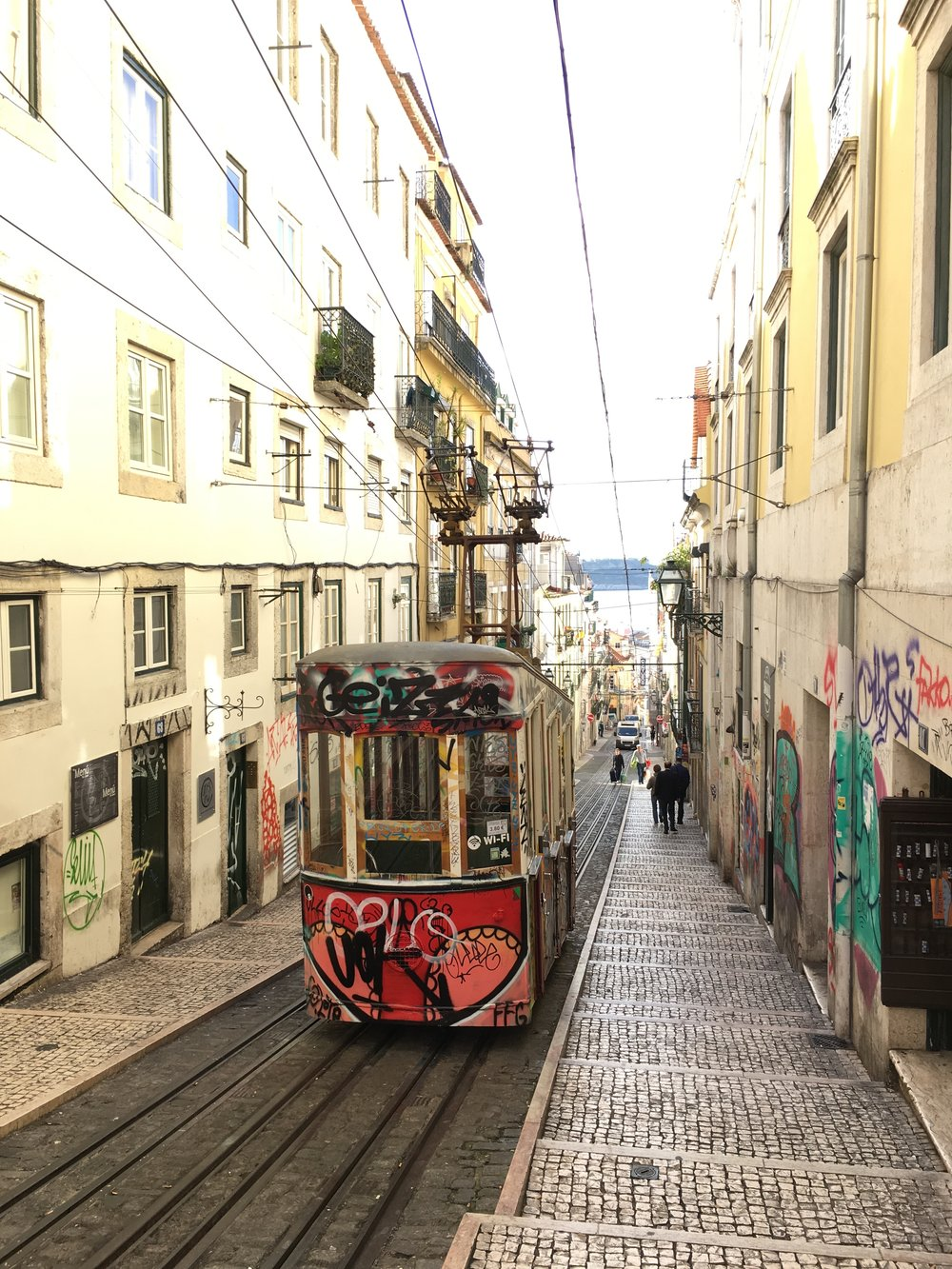 The Elevador da Bica next to our apartment