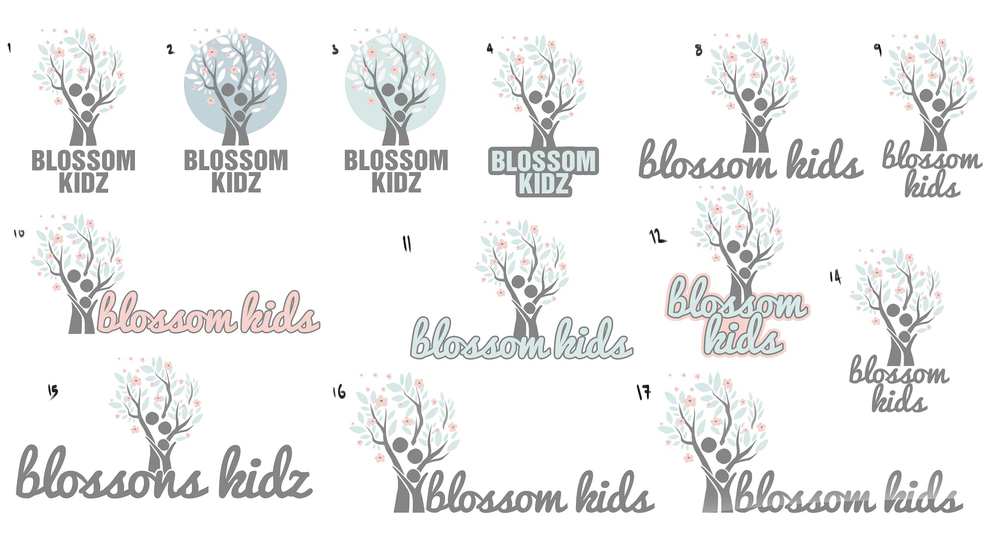 Logo concept design branding flowers pastel