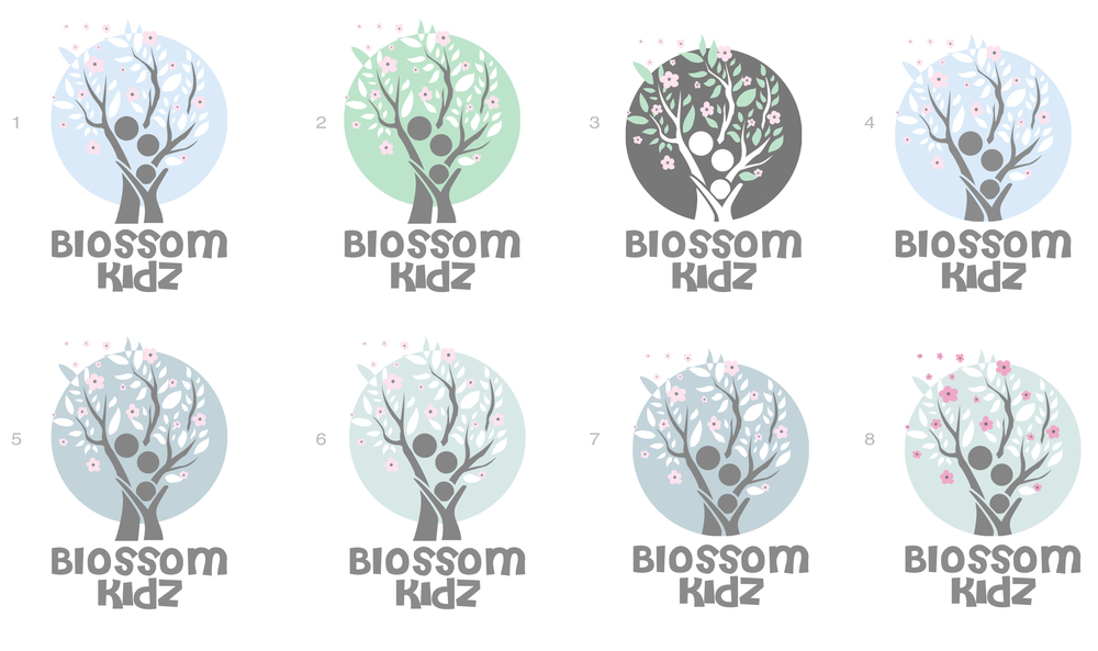 Logo design pastel flowers