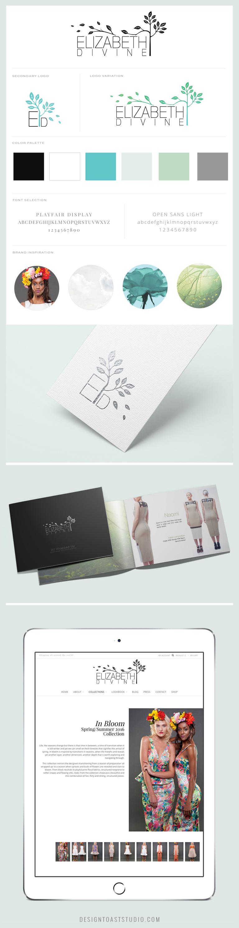 Fashion Designer Branding Logo Design Web Design Modern Feminine Florals.jpg