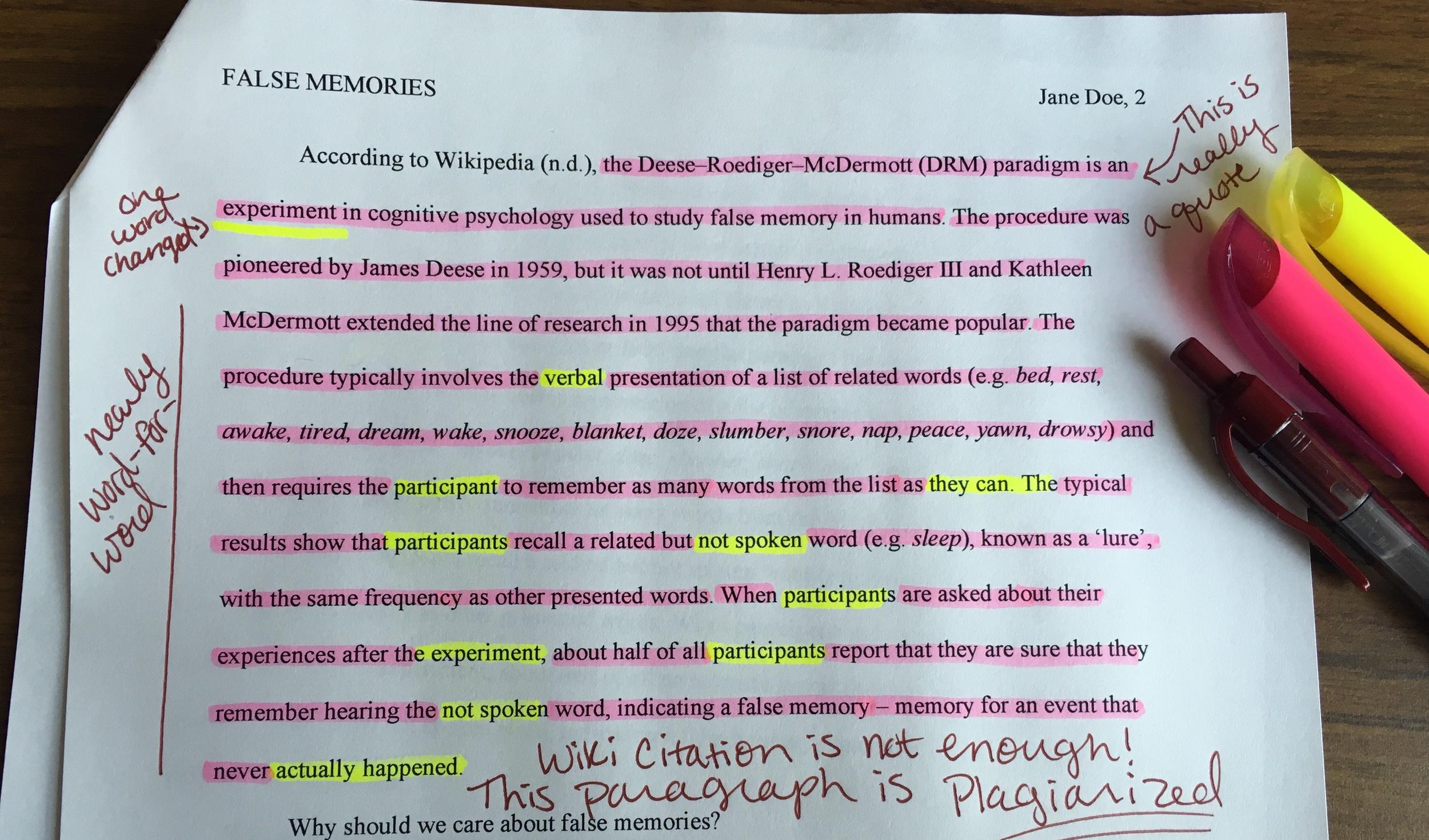 college essay to copy