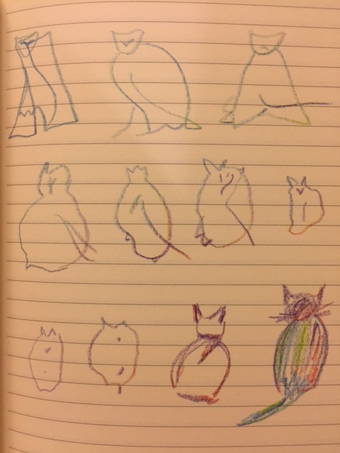 Drawings by Yana, reproduced from the original