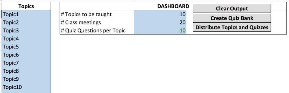 topic and quiz spacing spreadsheet a planning tool for teachers