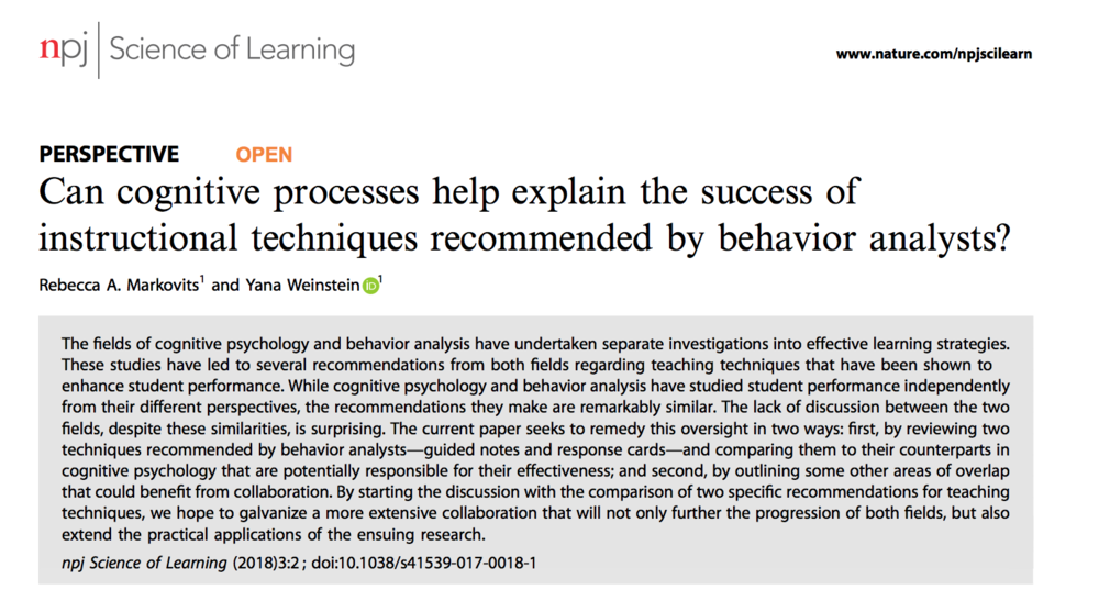 Two Fields Come To Similar Conclusions About Effective Learning
